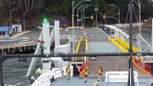 Getting set to dock on Denman Island