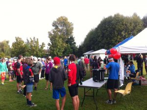 Participants get set for the 36th annual Terry Fox Run in the Comox Valley