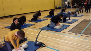 Students at Highland Secondary in Comox demonstrating skills learned through the program