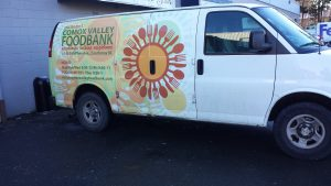 The Food Bank offers a pick-up service to collect donations in the Comox Valley.