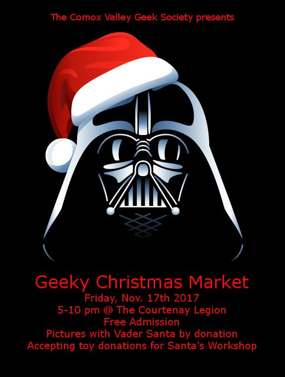 Geek Christmas.Cvgs Geeky Christmas Market My Comox Valley Now