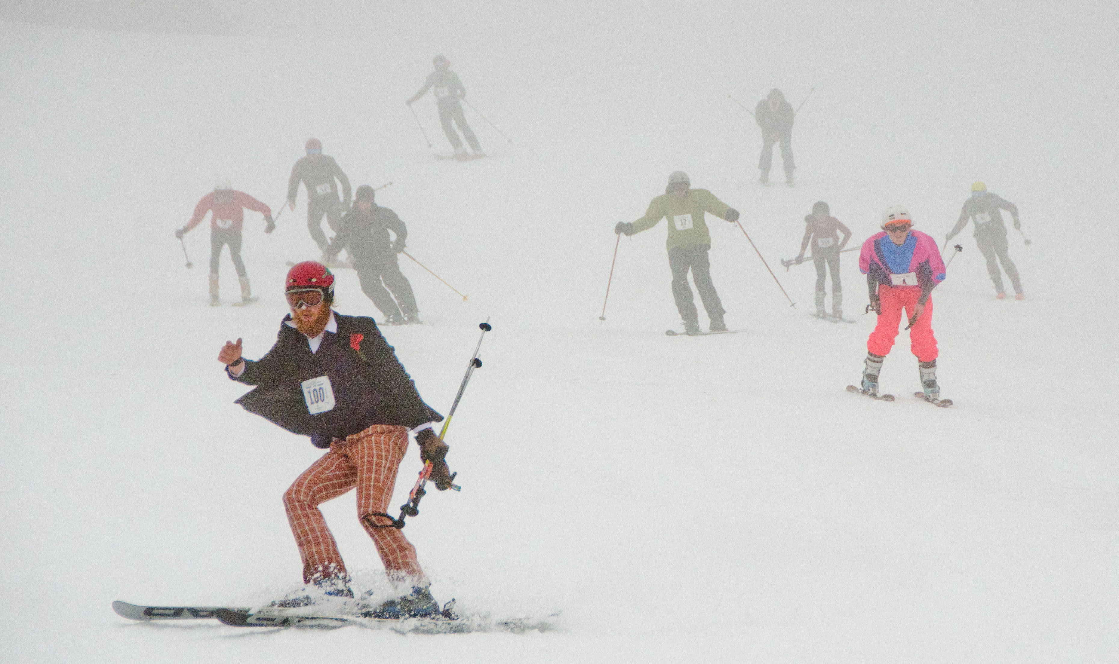 In Photos Royal Lepage Snow To Surf My Comox Valley Now Relay Race Basic Rules Downhill Skiers Make Their Way Down A Mount Washington Ski Run During The Start Of Throughout On April 29 2018