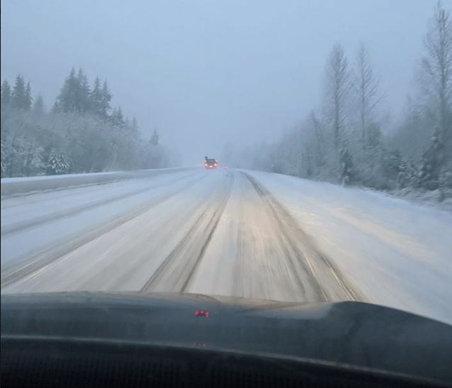 Commuter mayhem as storm dumps snow across southern British Columbia